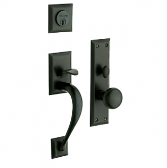 Baldwin Estate 6571 Concord Mortise Handleset Satin Black (190)