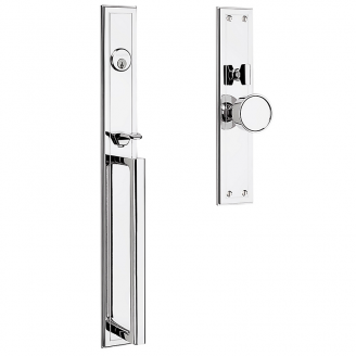 Baldwin Estate 6946 Hollywood Hills Mortise Handleset shown in Polished Chrome