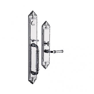 Baldwin Estate 6952 Edinburgh Full Plate Mortise Handleset in Polished Chome
