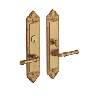 Baldwin Estate 6962 Fenwick Mortise Entrance Set in Vintage Brass