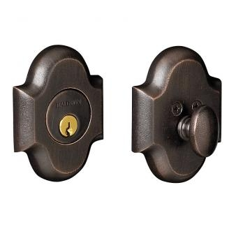 Baldwin 8252 Single Cylinder 402 Distressed Oil Rubbed Bronze