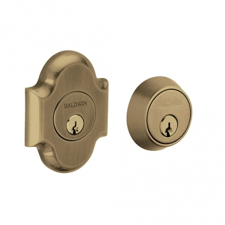 Baldwin 8253 Double Cylinder 050 Satin Brass and Black
