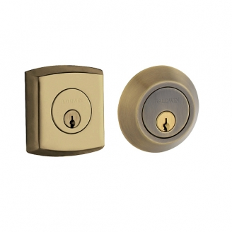 Baldwin 8286 Double Cylinder 050 Satin Brass and Black