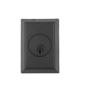 Emtek 8463 #3 Style Single Cylinder Deadbolt Flat Black (FB)