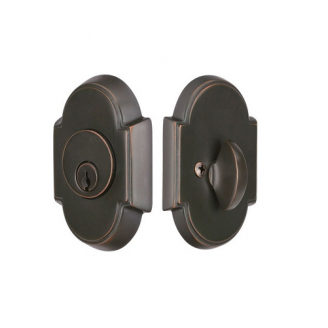 Emtek 8466 #8 Single Cylinder Deadbolt Oil Rubbed Bronze (US10B)