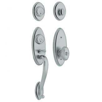 Baldwin 85345 Landon Handleset shown w/Wave Lever in Polished Chrome (260)