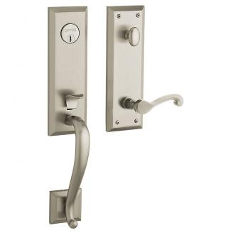 Baldwin Estate 85355 Stonegate Handleset Lifetime Satin Nickel (056)