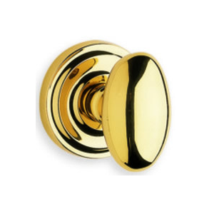 Omnia 860 Knob Latchset Polished Brass (US3)