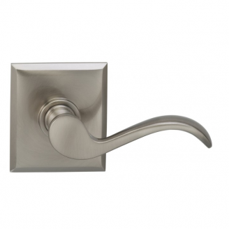 Omnia 895RT-15 Wave Door Lever Set with Rectangular Rose