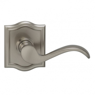 Omnia 895AR-15 Wave Door Lever Set with Arched Rose