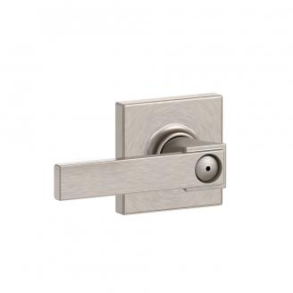 Schlage F40-NBK-COL Northbrook Privacy Door Lever Set with Collins Rose