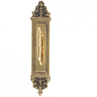 Brass Accents Renaissance Collection Apollo Pull Plate 3-5/8
