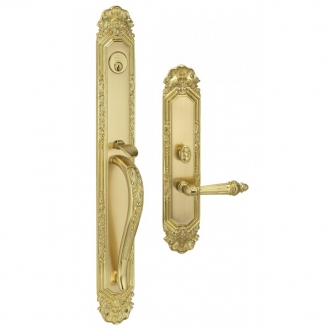 Omnia Amagansett Mortise Entrance Handleset w/Classico Collection Interior