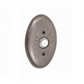 Fusion B-EL-C6 Sandcast Bronze Oval Doorbell Antique Pewter (AXP)
