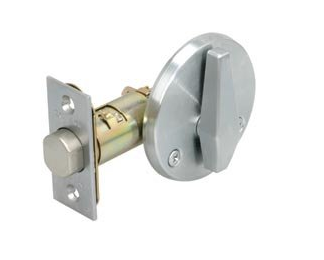 Schlage B580 Commercial One Sided Deadbolt no outside trim in Satin chrome