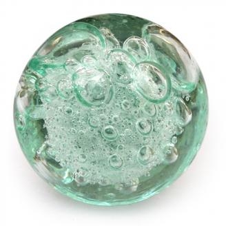 Potteryville Aqua Light Sea Green Glass Round Knob With
