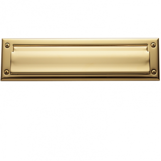 Baldwin 0014 Package Size Double Flap Letter Box Plate Lifetime Finish Brass