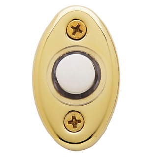Baldwin 4852 Oval Bell Button in Lifetime Polished Brass (003)
