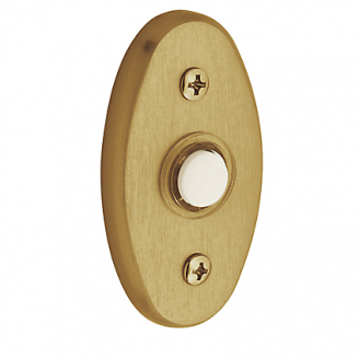 Baldwin 4858 Oval Bell Button in Lacquered Vintage Brass (034)