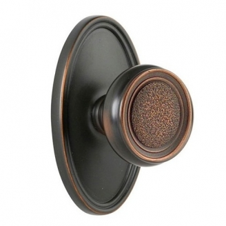 Emtek Belmont Door knob with Oval rose Oil Rubbed Bronze (US10B)