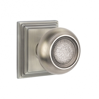Emtek Belmont Door knob with Wilshire Rose Antique Pewter (US15A)