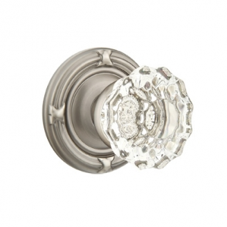 Emtek Astoria Clear Door knob with Ribbon and Reed Pewter (US15A)