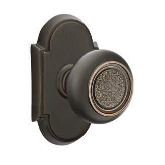 Emtek Belmont Door knob with #8 Rose Oil Rubbed Bronze (US10B)