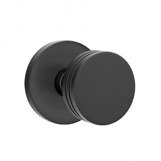 Emtek Bern Door Knob Set with Disk Rose Flat Black (US19)