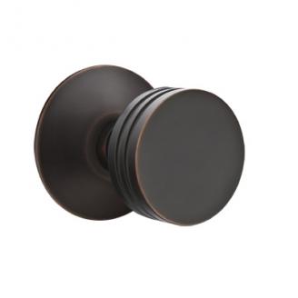 Emtek Bern Door Knob Set with Modern Rose Oil Rubbed bronze (US10B)