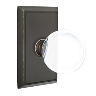 Emtek Bristol Door Knob Set with Rectangular Rose Oil Rubbed Bronze (US10B)