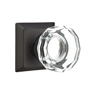 Emtek Lowell Crystal Door Knob Set Low Price Door Knobs