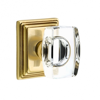 Emtek Windsor Crystal Door Knob Set Low Price Door Knobs