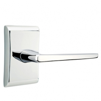 Emtek Brass Hermes Door Lever Set with Neos Rose Polished Chrome (US26)