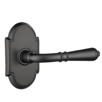Emtek Turino Door lever with #8 (Flat Black US19)
