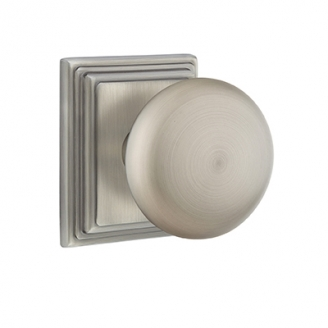 Emtek Providence Door Knob with Wilshire Rose Antique Pewter (US15A)