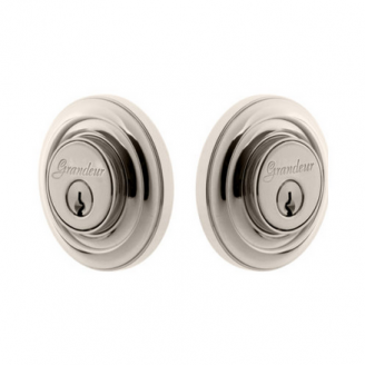 Grandeur Circulaire Double Cylinder Deadbolt Polished Nickel