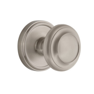 Grandeur Circulaire Door Knob with Georgetown Rose Satin Nickel