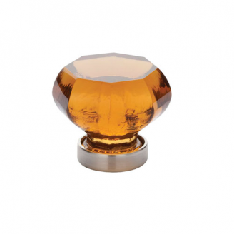 Emtek 86019, 86020 Old Town Amber Cabinet Knob Satin Nickel (US15)