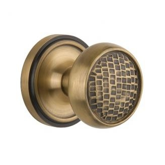 Nostalgic Warehouse Craftsman Knob Privacy Mortise with Classic Rose AB