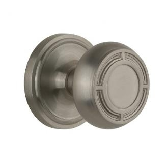 Nostalgic Warehouse CLAMIS Mission Knob Set with Classic Rose Satin Nickel