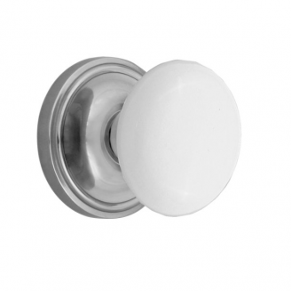 Nostalgic Warehouse Porcelain Knob Privacy Mortise with Classic Rose BC