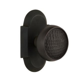 Nostalgic Warehouse Cottage Plate with Craftsman Knob Set Oil Rubbed Bronze