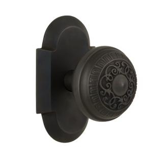 Nostalgic Warehouse Cottage Plate with Egg and Dart Knob Oil Rubbed Bronze