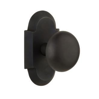 Nostalgic Warehouse Cottage Plate with New York Knob Set Oil Rubbed Bronze