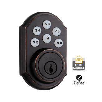 Kwikset CP910TRLZW-11PS Smartcode Electronic Deadbolt with Z-Wave Technology