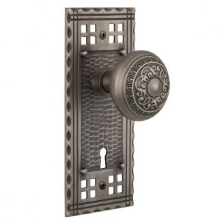 Nostalgic Warehouse Craftsman Backplate Privacy Mortise with Egg and Dart AP