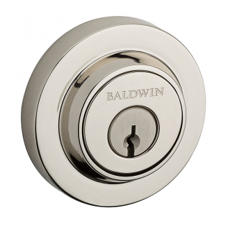 Baldwin Reserve Contemporary Round Deadbolt shown inPolished Nickel (141) SCCRD