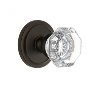 Grandeur Chambord Knob with Circulaire Rose Timeless Bronze