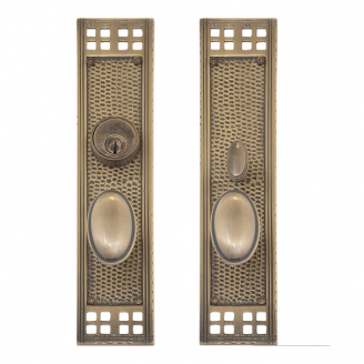 Brass Accents D05-K535 Arts and Crafts Collection Mortise Entrance Set