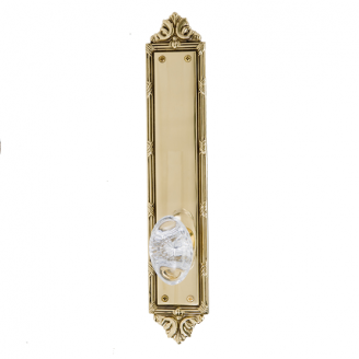 Brass Accents Ribbon and Reed Collection Decorative Plate